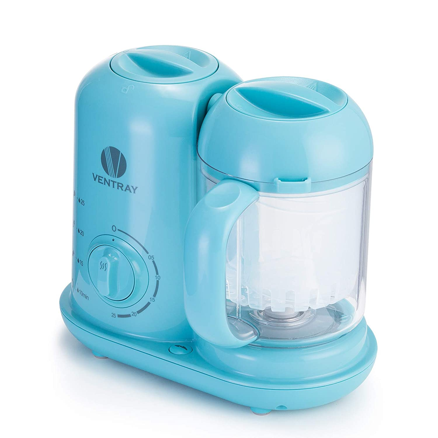 Ventray BabyGrow 100 Blue - All-in-one Blender and Steamer Baby Food Maker - Makes Food for Infants and Toddlers
