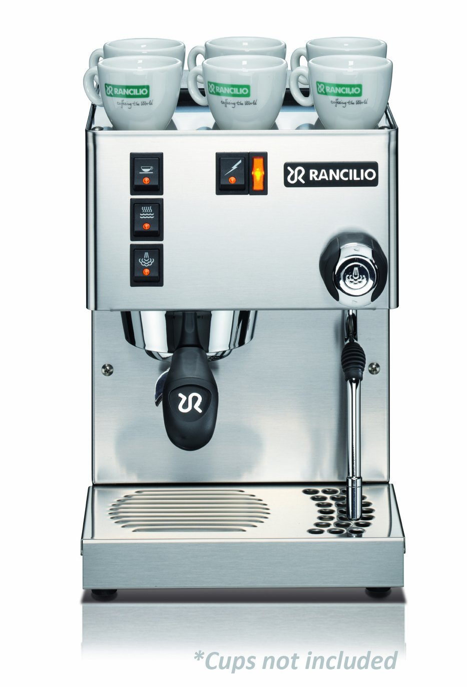 Electronic Rancilio Coffee Machine For Sale amazon com rancilio silvia espresso machine with iron frame and stainless steel side panels 11 4 by 13 inch kitchen dini