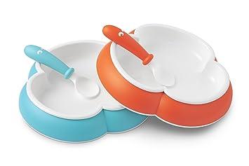 f80776c2c3d Amazon.com   BABYBJORN Baby Plate and Spoon - Orange Turquoise