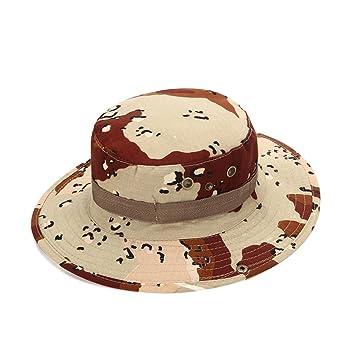 785bd34b Providethebest Outdoor Sports Fishing Hat Camouflage Bucket Beanie Mesh  Splicing Jungle Bush UV Protection Wide Brim