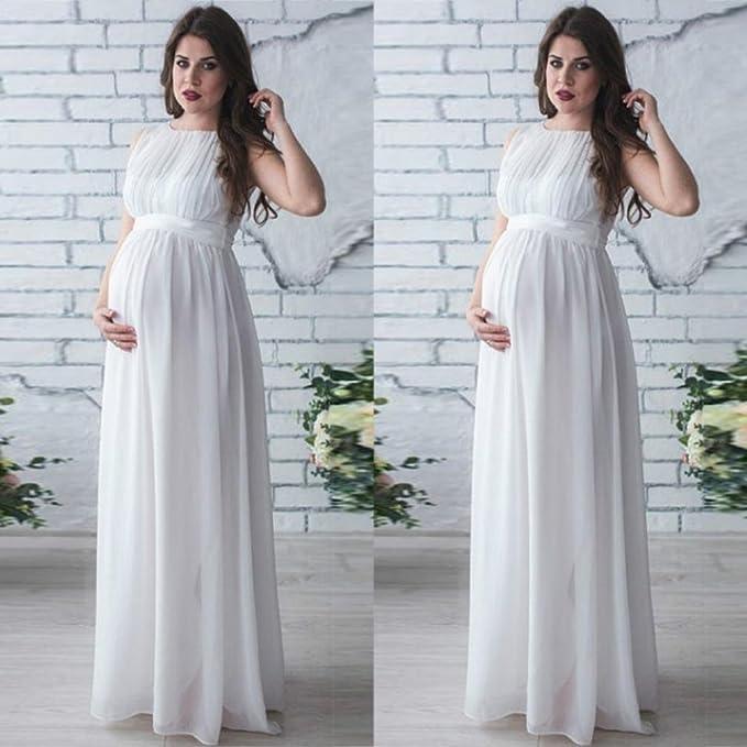 ❤️Faldas, Challeng Vestido de embarazada, Vestido sin mangas de gran tamaño para mujeres embarazadas, vintage, vestido de encaje (l, rosa): Amazon.es: ...
