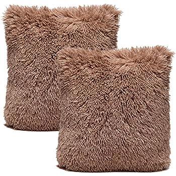 chanasya super soft long shaggy chic fuzzy fur faux fur warm elegent cozy beige brown throw