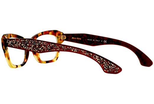 5b4b16026c88 MIU MIU MU 05OV Eyeglasses UA51O1 Sand Medium Havana 51-17-145   Amazon.co.uk  Clothing