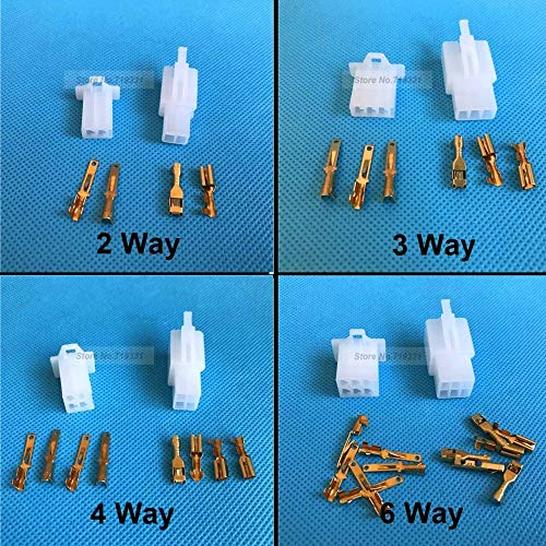 Ochoos Quality 2.8mm Mini Electrical Wire Connector Kits 2 3 4 6 Way Motorbike Motorcycle Car Auto Connector: DIY & Tools