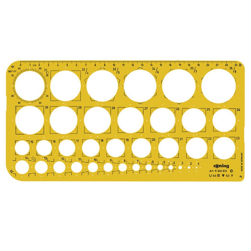 Rotring plantilla de círculos de 1-36 mm: Amazon.es: Oficina y papelería