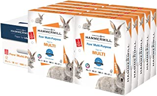 product image for Hammermill Printer Paper, Fore Multipurpose 24 lb Copy Paper, 3 hole - 10 Ream (5,000 Sheets) - 96 Bright, Made in the USA