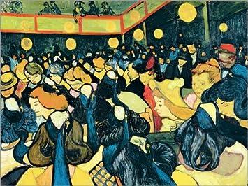 Posterlounge Cuadro de Aluminio 130 x 100 cm: The Dance Hall in Arles de Vincent Van Gogh