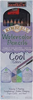 product image for General Pencil Company Kimberly Watercolor Pencil 6-Pack: Cool Colors