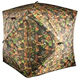 VULTURE Pop-up Portable 3-Person Ground Hunting Blind, 65'' X 65'' X 74'',Camo Pattern, Oxford Fabric Hunting Blinds