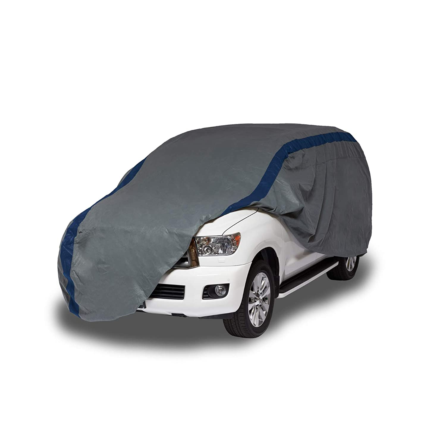 Duck Covers Weather Defender Outdoor SUV/Truck Cover, Limited 4 Year Warranty,  Fits SUVs or Full Size Trucks with Shell or Bed Cap up to 19 ft. 1 in. A3SUV229