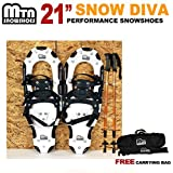 "New MTN Man Woman Kid Youth 21"" black Snowshoes+Nordic pole+ Free Bag"