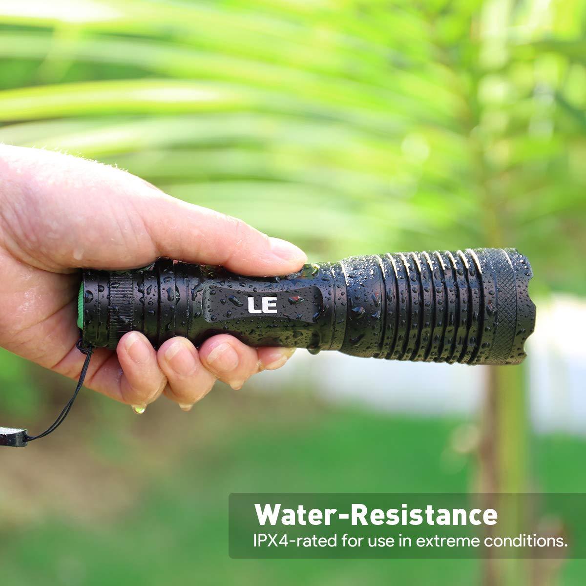 Adjustable Brightness LE Super Bright LED Flashlight 5 Lighting ...
