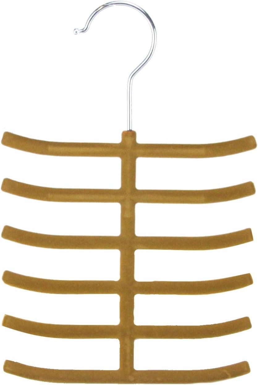 Pink Edco//Adorn NON SLIP FLOCKED TIE HANGER Velvet Belt Scarf Hanger Coat Hook Wardrobe Holder Organiser Wardrobe Space Saver