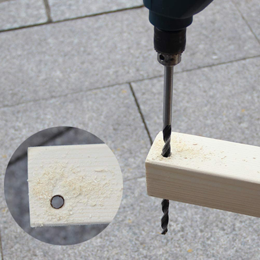 6mm Plywood QLOUNI 7Pcs 300mm//11.8 Extra Long Drill Bit 4mm Plastic 7mm 10mm Wood Drill Bit Set for Hardwood 5mm 12mm Round Shank Brad Point Augers Drill Bits 8mm