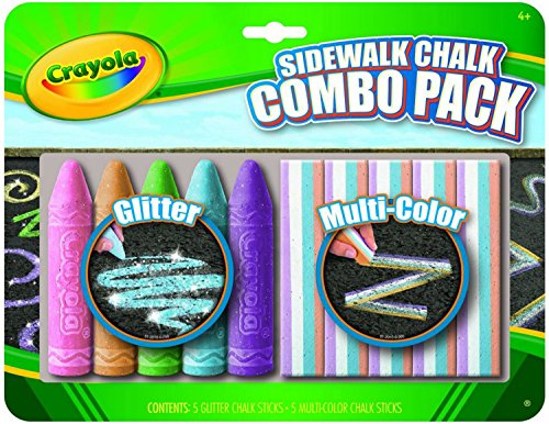 Crayola Special Effects Sidewalk Chalk, Combo Pack, (Pack of 4)