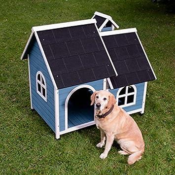 animalmarketonline Caseta para perros litera de madera para exterior Santoku L 120,5 x p 83,5 x H 103,2 cm (2 cajas *): Amazon.es: Productos para mascotas