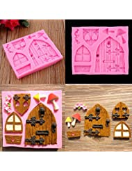 House Cartoon Door Mushroom Cake Decor Fondant Mould Chocolate Mold Tool By Palker Sky