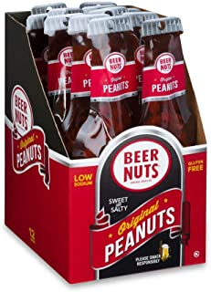 product image for BEER NUTS Original Peanuts | Beer Bottle Bags 12 Pack Box - 1.75 oz. Individual Bags - Sweet and Salty, Gluten-Free, Kosher, Low Sodium Snacks