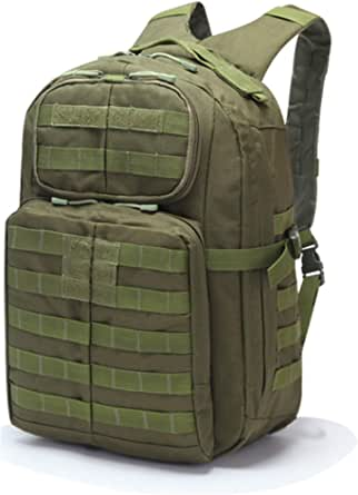Multifunction Tactical Military Backpack, 45 Liter Large Capacity Molle Bag Rucksack Pack Outdoor Tactical Backpack Travel Camping Hiking Sports Bag