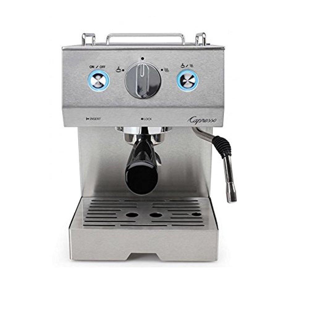 Capresso 125.05 Cafe Pro Espresso Maker, Silver (Renewed) by Capresso