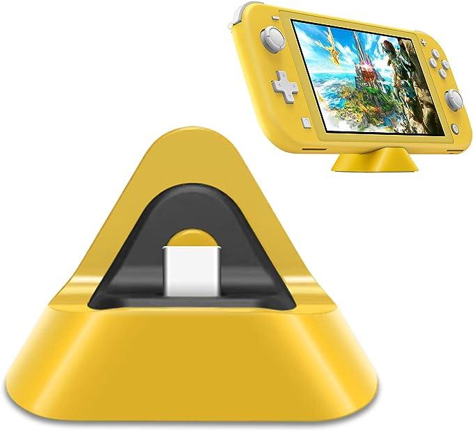 Base de carga portátil para Nintendo Switch Lite y Nintendo Switch, soporte estable estación de carga para Switch Lite con puerto de entrada tipo C (amarillo): Amazon.es: Electrónica