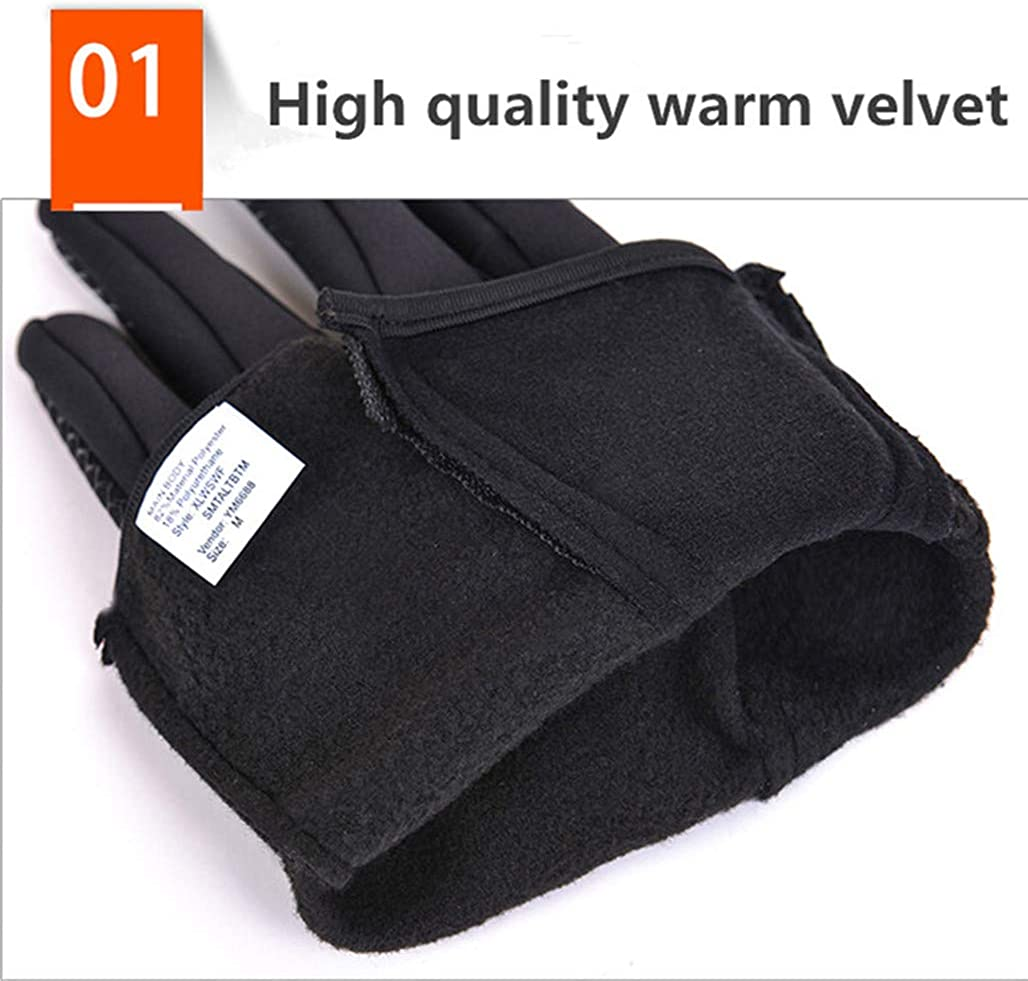 Alilyol Winter Gloves,Cold Waterproof Windproof Anti-Slip Thermal Touchscreen Warm Gloves Men Women Outdoor Cycling Driving