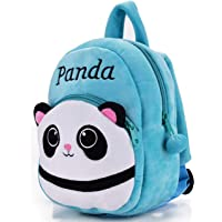 DZert Panda Kids School Bag Soft Plush Backpacks Cartoon Baby Boy/Girl (2-5 Years) Light Blue