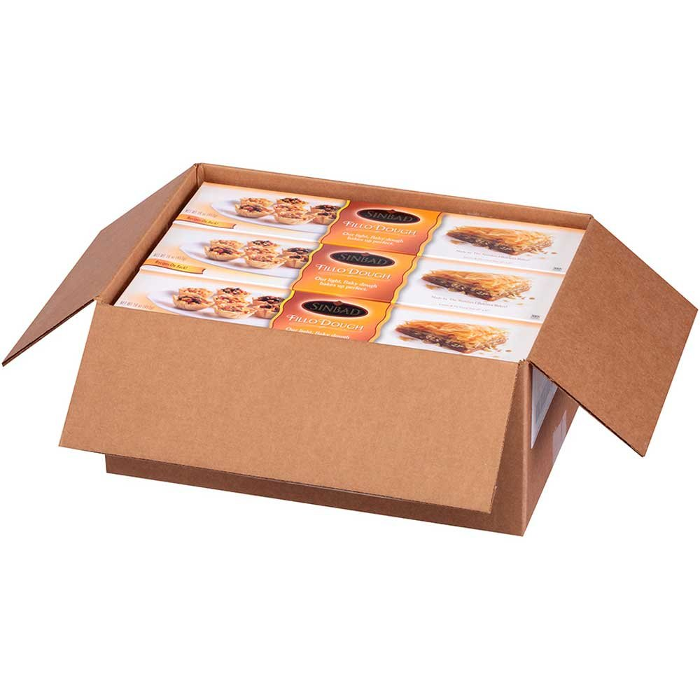 Kronos Frozen Roll Fillo Dough Sheet, 12 x 17 inch - 12 per case.