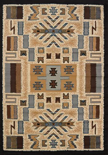 United Weavers of America Pelham Manhattan Collection Indoor Rug – 3ft. 11in. x 5ft. 3in., Multicolor, Lodge Patterned Rug with Olefin Construction