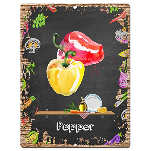 Pepper Sign Rustic Vintage Retro Kitchen wall decor - Pepper wall decor