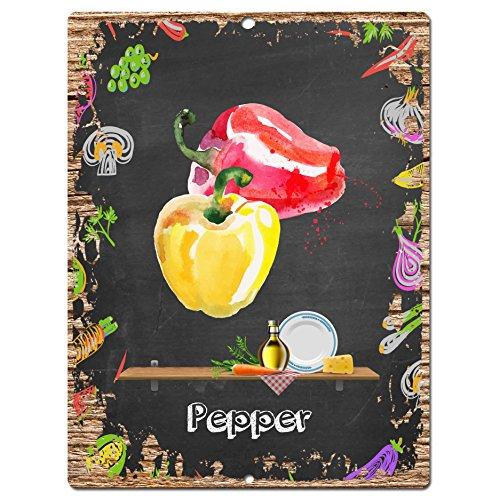 Pepper Sign Rustic Vintage Retro Kitchen wall decor