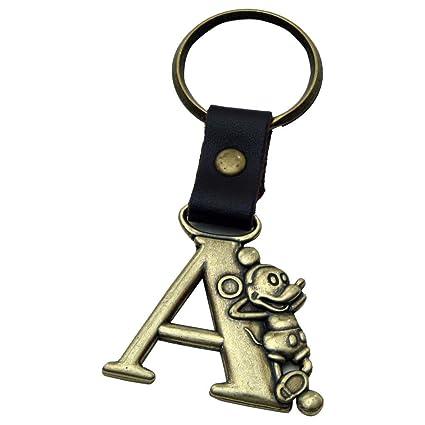 Amazon.com   Mickey Mouse Letter A Brass Key Chain   Novelty ... 88a8c0569d