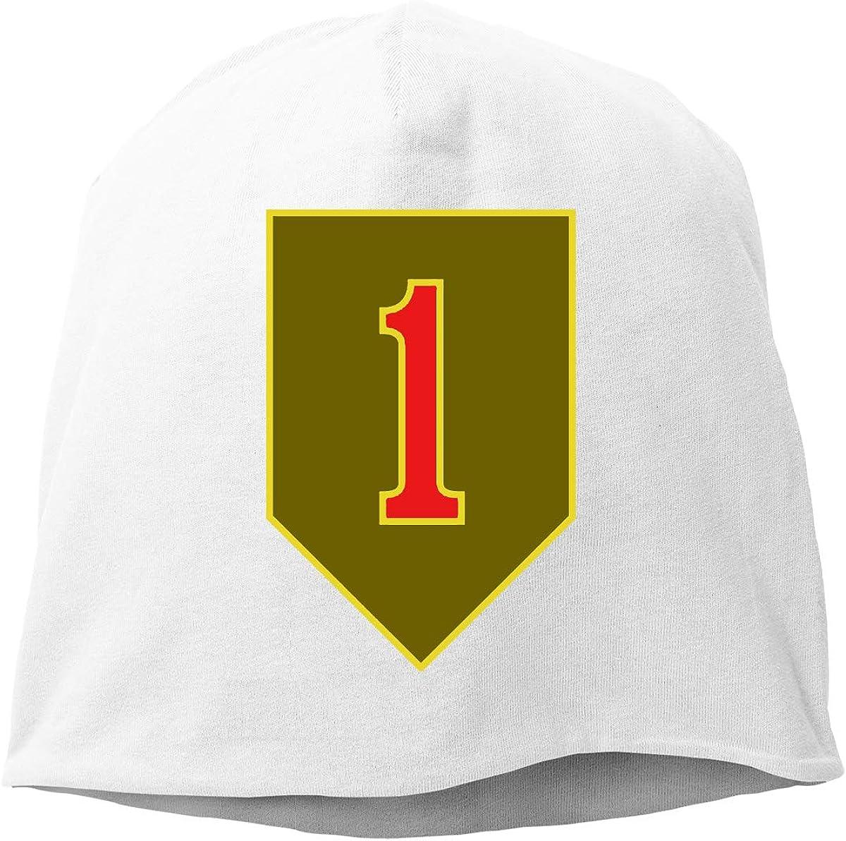 Army 1st Infantry Division Helmet Liner Thin Skull Cap Beanie Hip Hop Cap