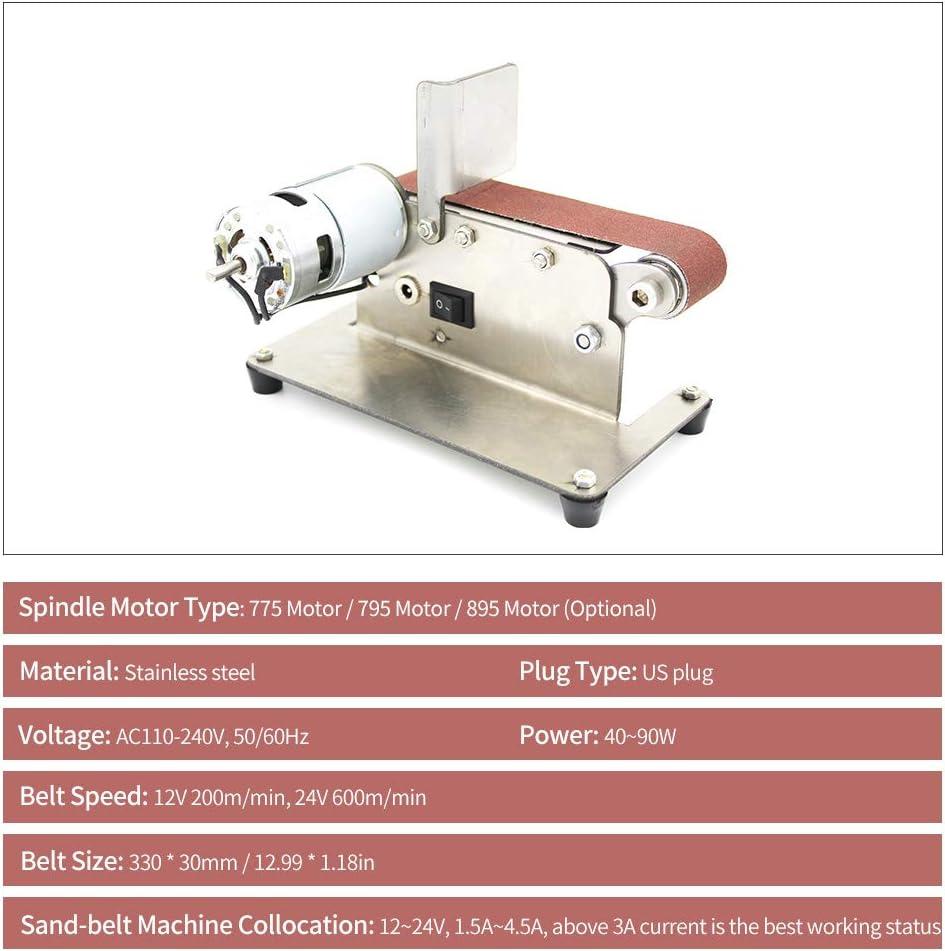 Festnight Horizontal Belt Sander Mini Electric Belt Grinding Sander Grinder DIY Polishing Grinding Machine