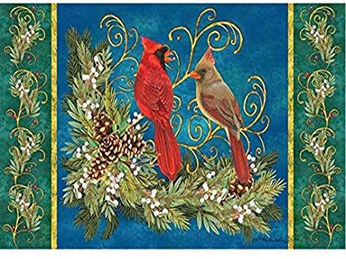 Custom Décor Winter Cardinal Pinecone -