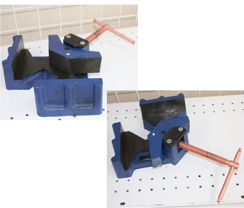 SKEMIDEX---2-1/2'' JAW WELDER MOLDING WELDING ANGLE CORNER CLAMP BENCH VISE PRO HD And 3 axis welding clamps welding clamps harbor freight welding And ground clamps welding And clamps home depot