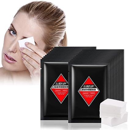 Toallitas Desmaquillantes, 20 Unids/pack Almohadillas Cosméticas de Algodón Faciales Hidratante Suave Limpieza Facial
