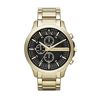 a534b09753c Amazon.com  Armani Exchange Men s AX2137 Gold Watch  Armani Exchange ...