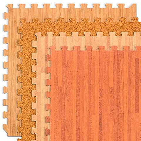 We Sell Mats Forest Floor Light Cork Grain Interlocking Foam Anti Fatigue Flooring 2'x2' Tiles - Flooring