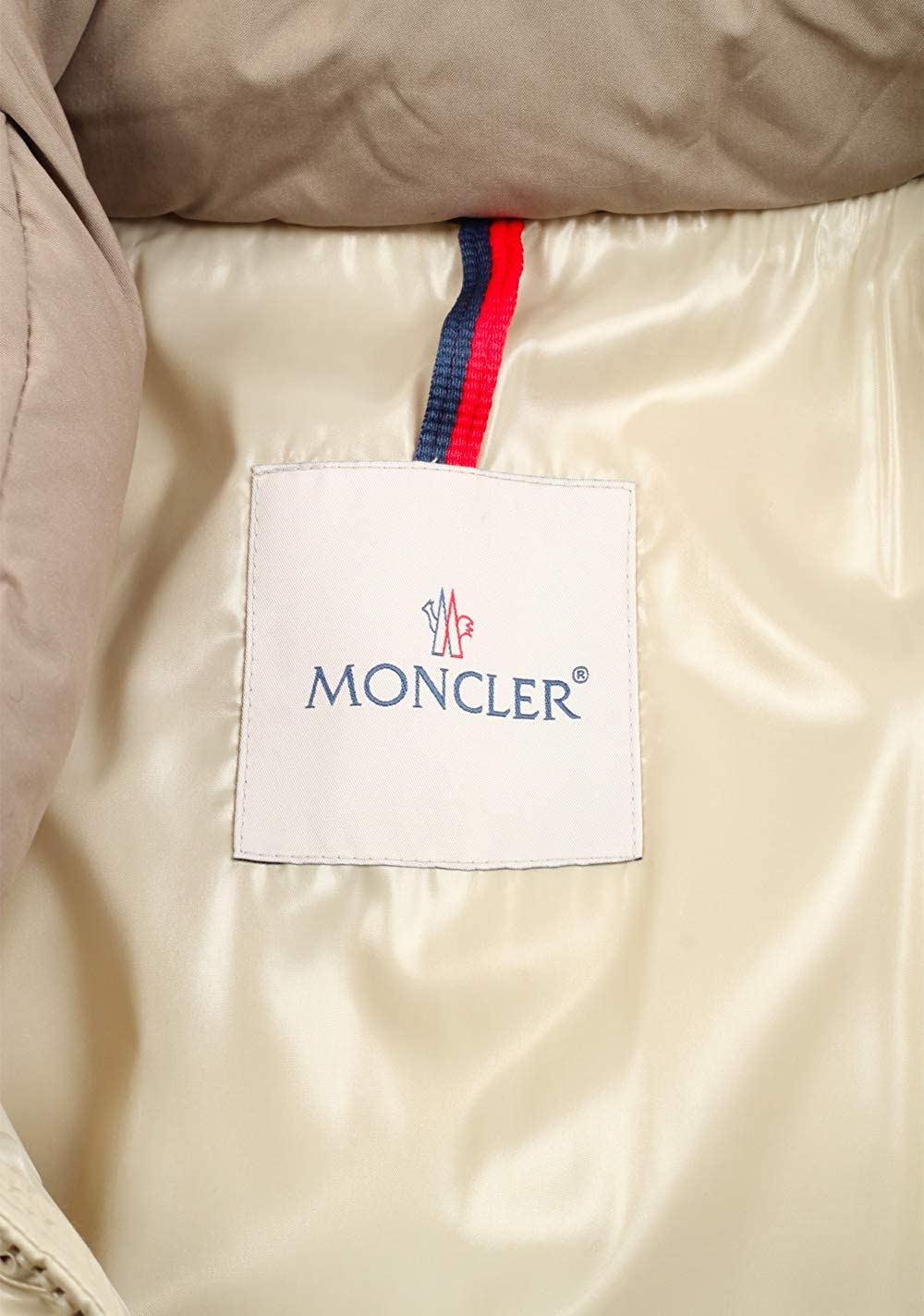 : Moncler CL Beige Frey Down Quilted Jacket Coat