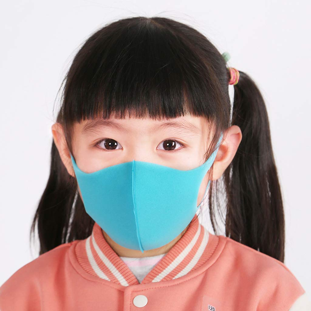 3pcs Gesichtsabdeckung Aus Waschbarer Baumwolle Gesichtsabdeckung F/ür Kindermund HR-COME Anti-Haze-Staubschutz