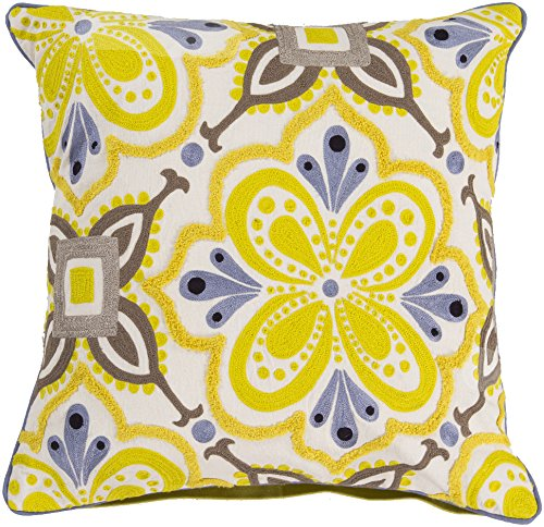 Surya Kate Spain KS013-2020D Down Fill Pillow, 20 by 20-Inch, Lime by Surya