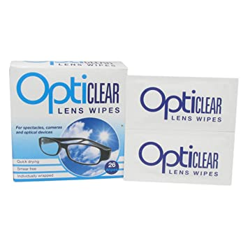 Opticlear lente toallitas para limpieza de gafas y cámaras de dispositivos óptico