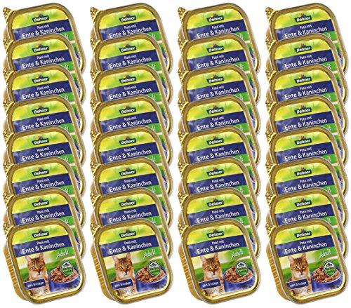 Dehner Katzenfutter, Nassfutter, Paté Adult, 32 x 100 g (3.2 kg), verschiedene Sorten