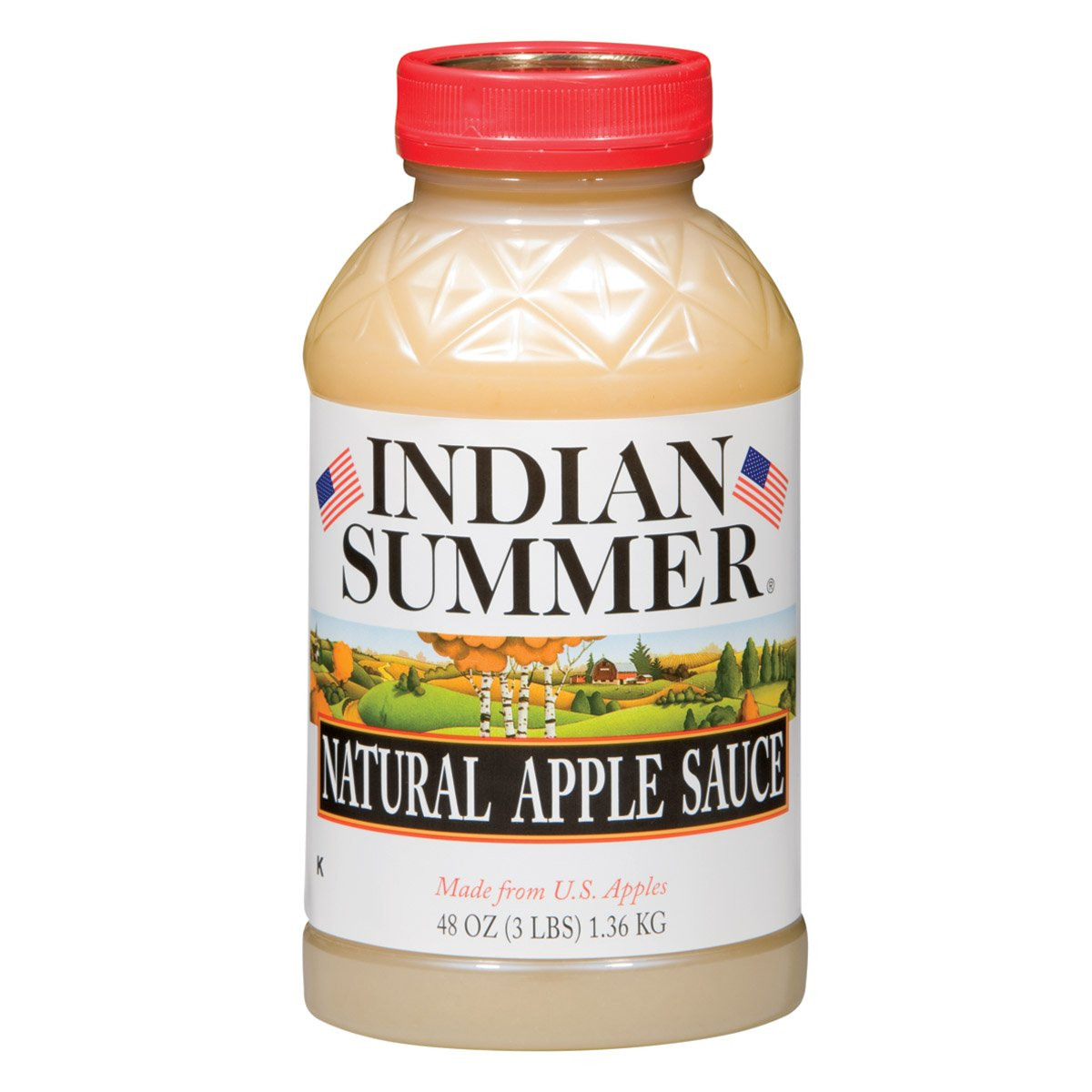 Indian Summer Apple Sauce, Natural, 48 Ounce (Pack of 8)