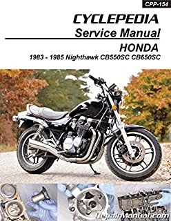CPP-154-P Honda CB550 CB650SC Nighthawk Cyclepedia Printed Service Manual 1983-1985