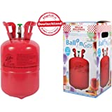 Alsino Bombola Gas Elio   0,25m³ per Circa 30 Palloncini   Monouso   contenente Bombola e Valvola   per Palloncini   Decorazioni