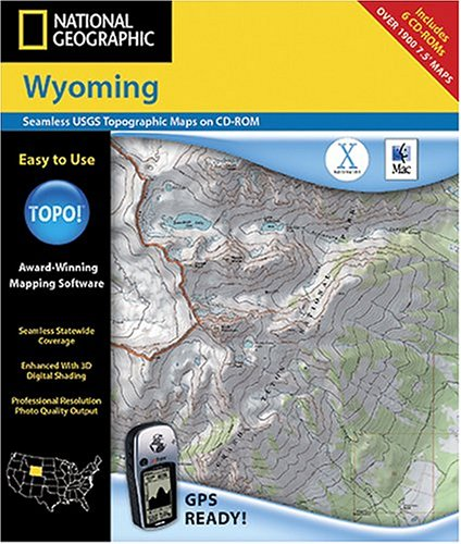 National Geographic TOPO! Wyoming Map CD-ROM (Mac)