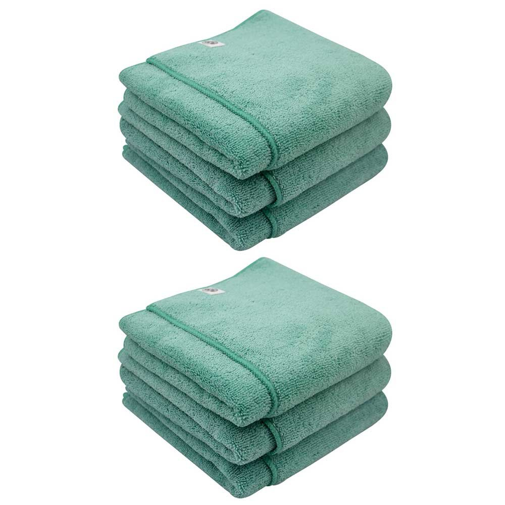Chemical Guys MIC36406 Workhorse XL Green Professional Grade Microfiber Towel, Exterior (24 in. x 16 in.) (Pack of 6)