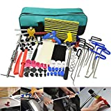 Wcaro PDR Rods Dent Puller Hail Damage Repair PDR Tools Car Dent Removal Paintless Dent Repair Tools Kit Dent Remover Dent Lifter Slide Hammer Glue Puller Line Board